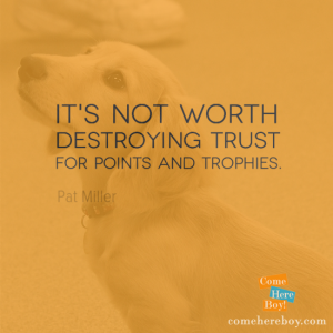 It's not worth destroying trust for points and trophies